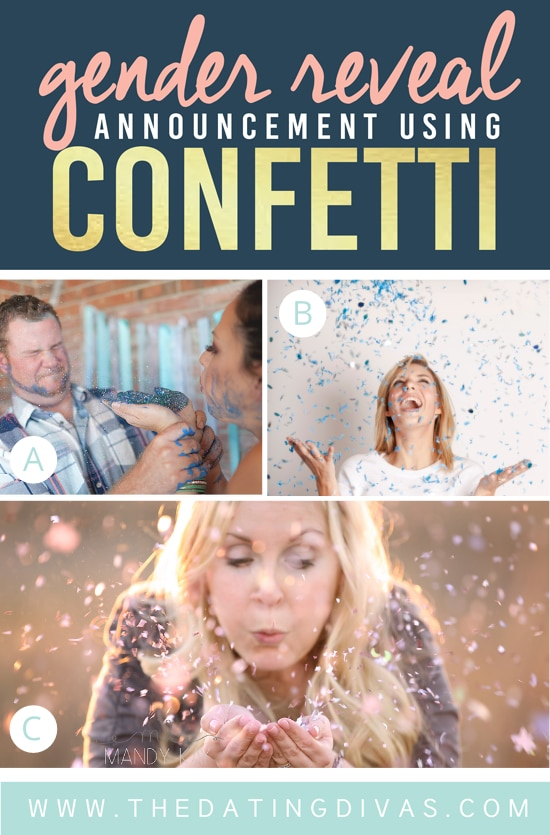 Gender Reveal Ideas Using Confetti