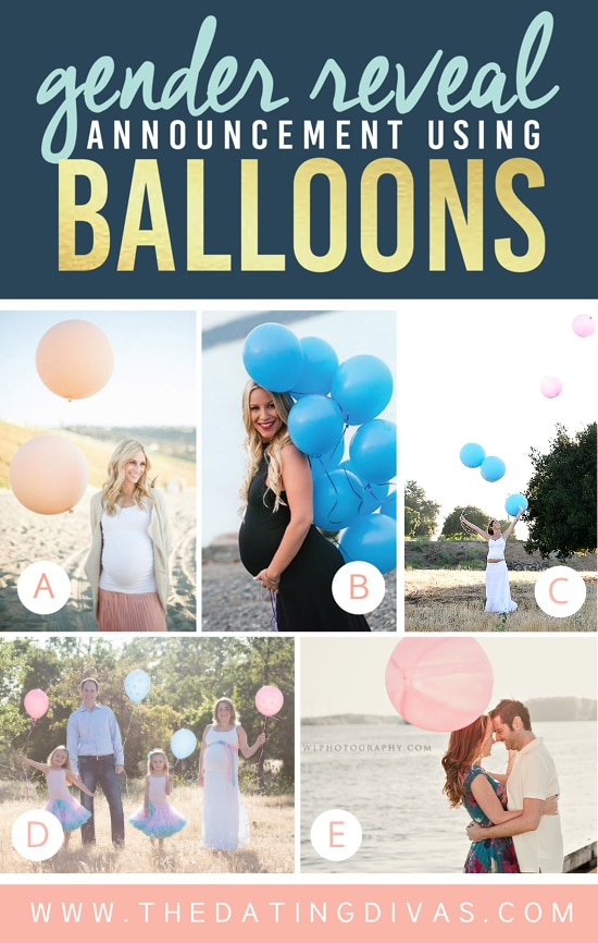 Cute Gender Reveal Ideas Using Balloons
