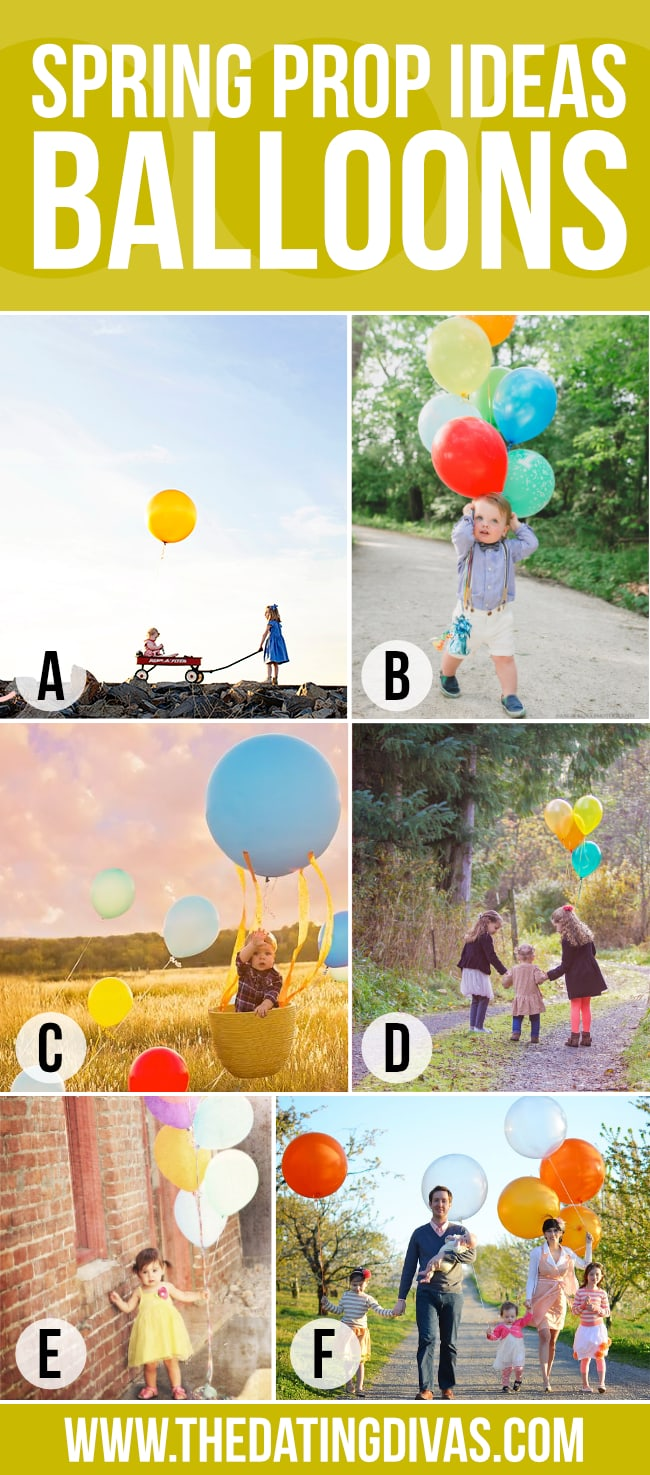 Balloons make a cute photo prop for Spring family pictures