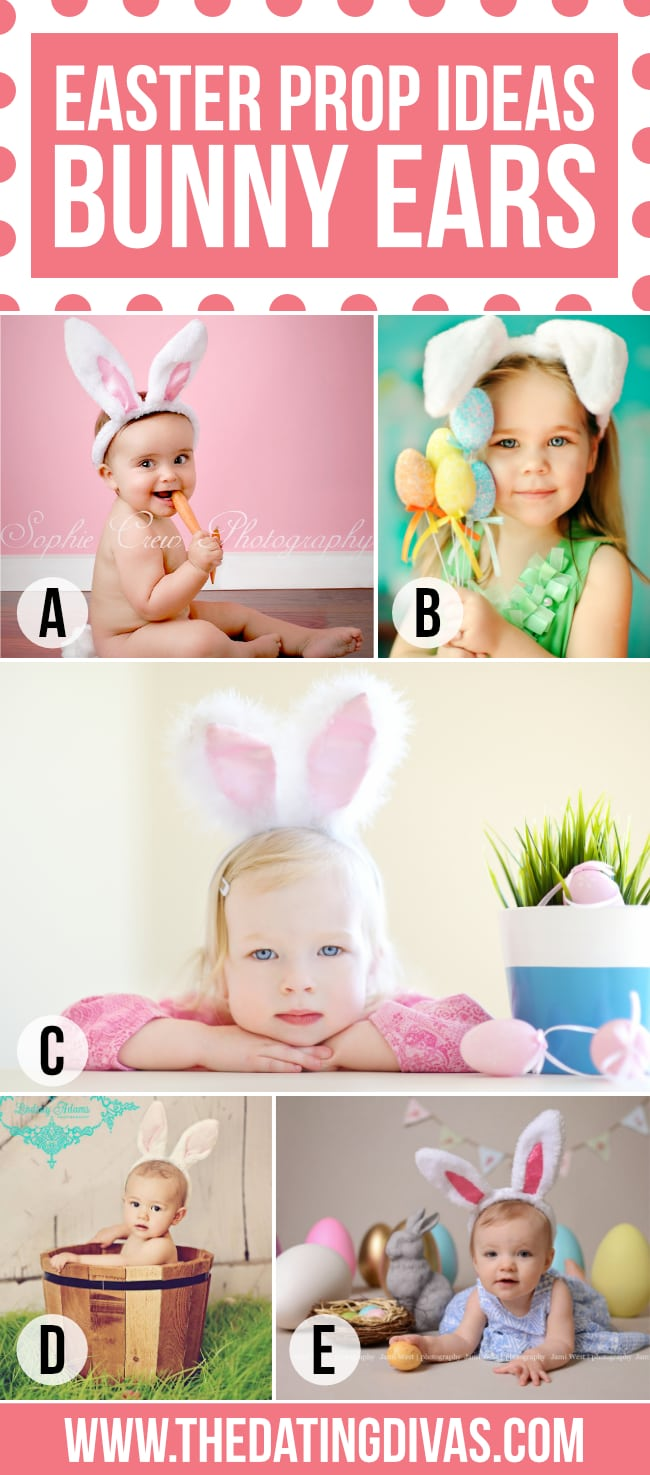 Bunny Ears for Easter Photo Prop
