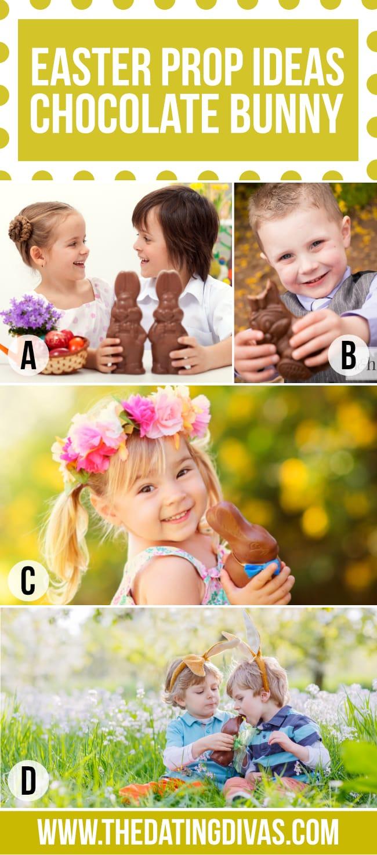 Chocolate Bunny Easter Photo Prop