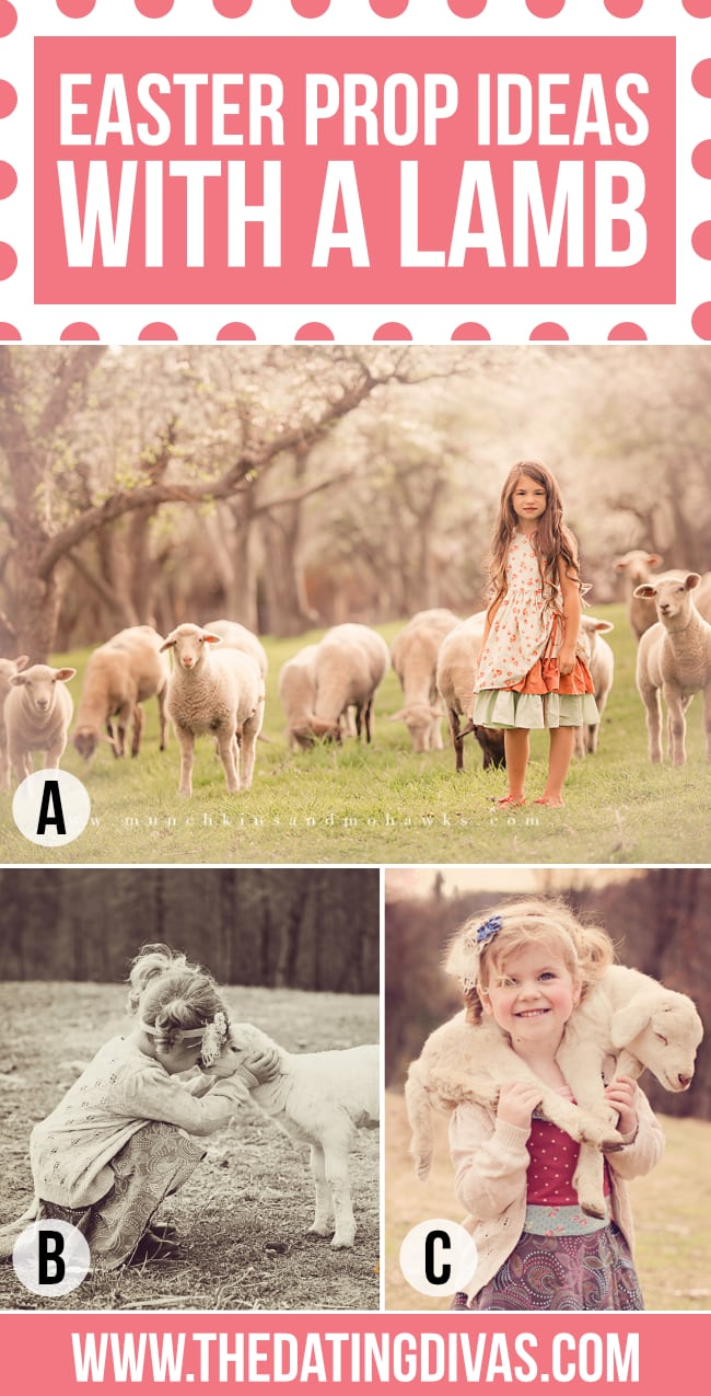 Easter Portrait with Lamb