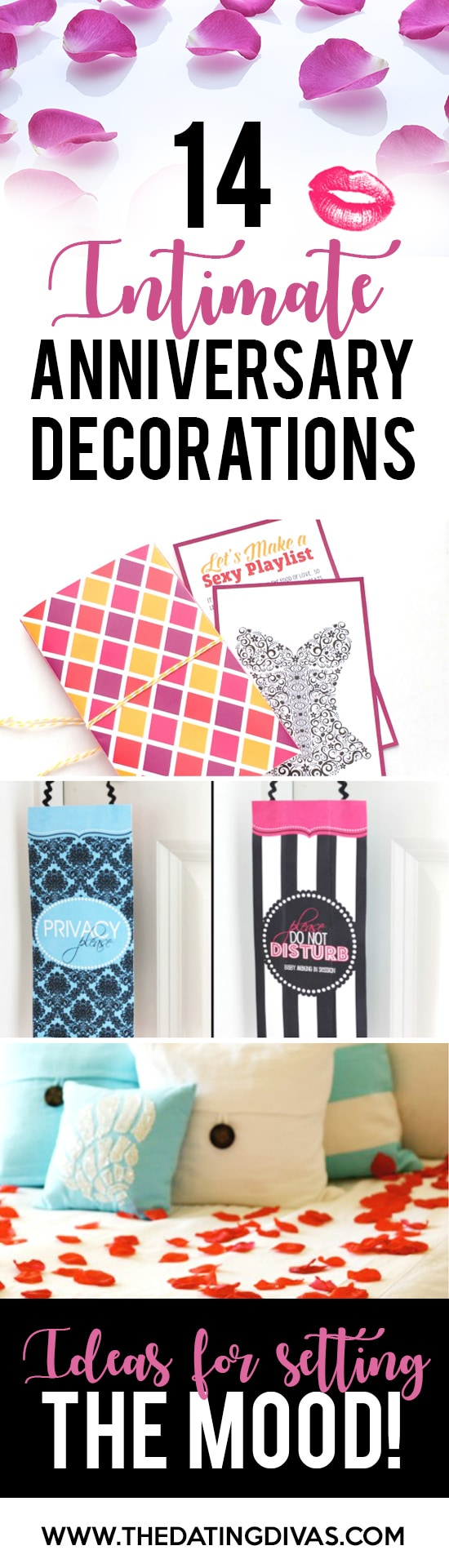 Intimate anniversary ideas for the bedroom from the for Room decor ideas for anniversary