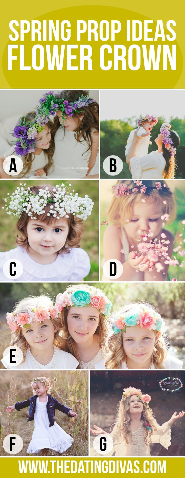 Love these flower crowns for a Spring photo shoot