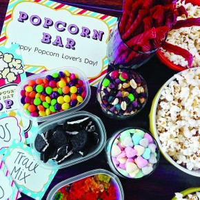 Popcorn Bar Treats & Ideas