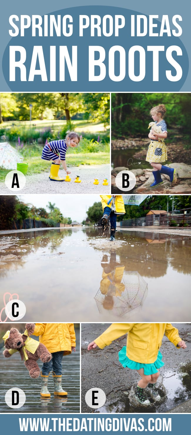 Spring Photo Session in Rain Boots