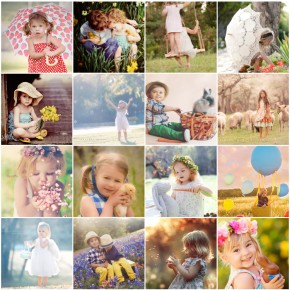 Easter picture ideas for Spring family photos collage