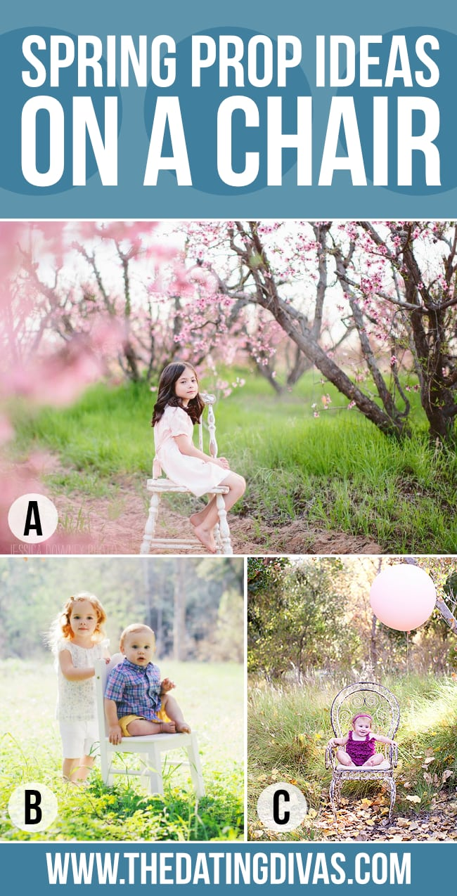 Spring Photography Chair as a Photo Prop