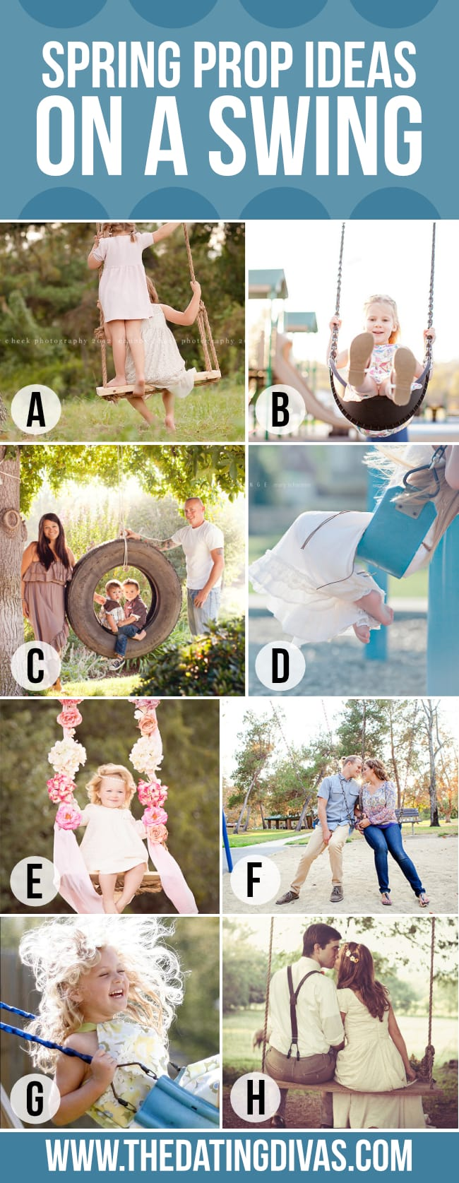 Spring Photography Swing as a photo prop