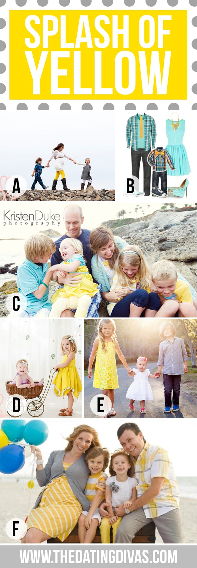Splash of Yellow for Family Photography