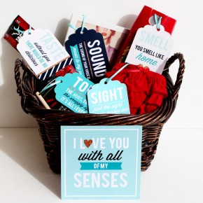 5 Senses Gift- Romantic Gift Idea for boyfriend or husband