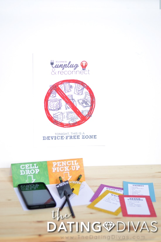 Device-Free Zone for Time to Unplug Date Night