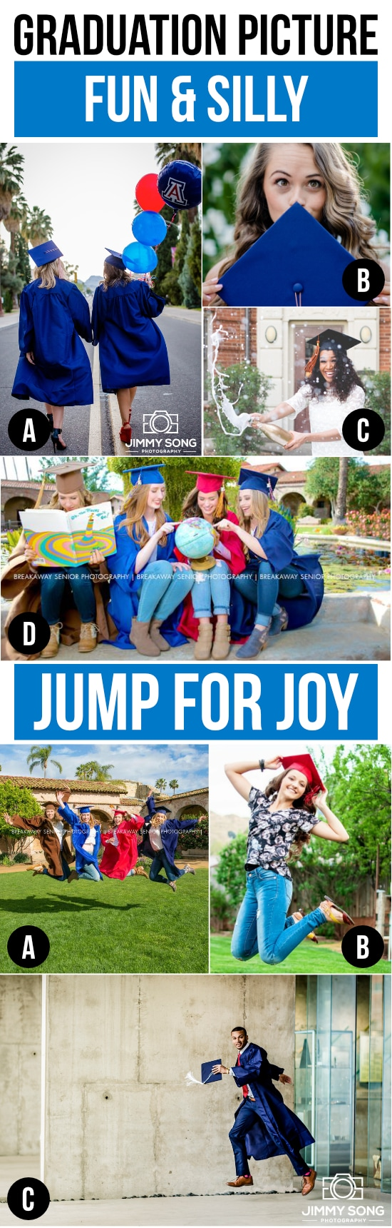 Jump for Joy and Be Silly for your Graduation Pictures