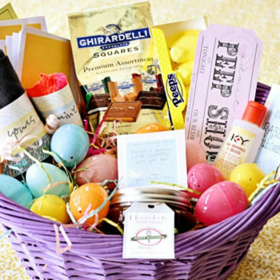 Basket erotic gift him