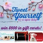 Tweet Yourself: Spa Giveaway