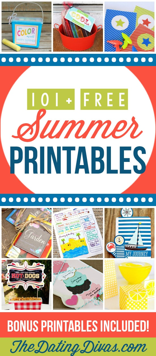 So many cute & free summer printables! Love the kids activities and worksheets! #TheDatingDivas #FreeSummerPrintables