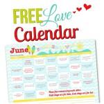 June 2015 Love Calendar
