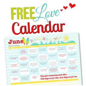 2015 June Love Calendar