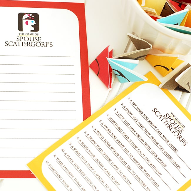 photo relating to Printable Scattergories Lists identify Scattergories Sport Night time Day Strategy - versus The Courting Divas