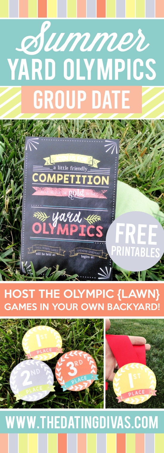 Such a fun Outdoor Olympics Yard Games group date! The medals are my favorite part! #TheDatingDivas #YardGames #OutdoorYardGames #LawnGames