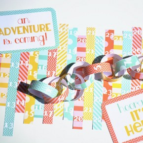 Adorable DIY countdown chain!
