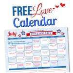 July 2015 Love Calendar