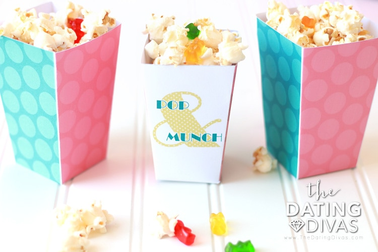 Backyard Movie Popcorn Boxes