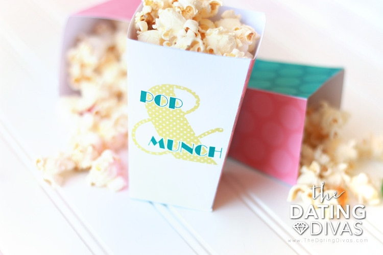 Backyard Movie Popcorn Snack Boxes