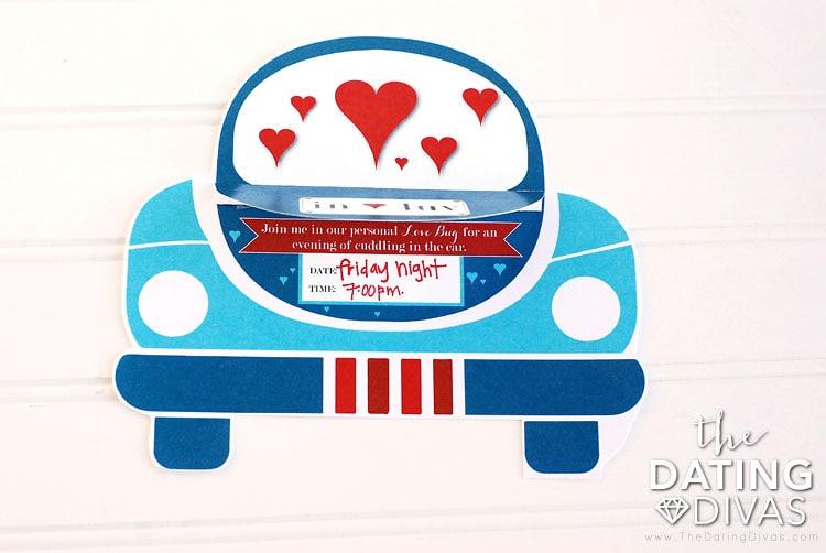 Date Night In Car Invitation