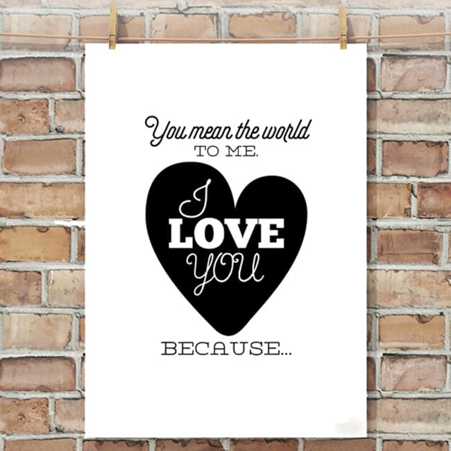 reasons i love you posters an easy romantic gift idea
