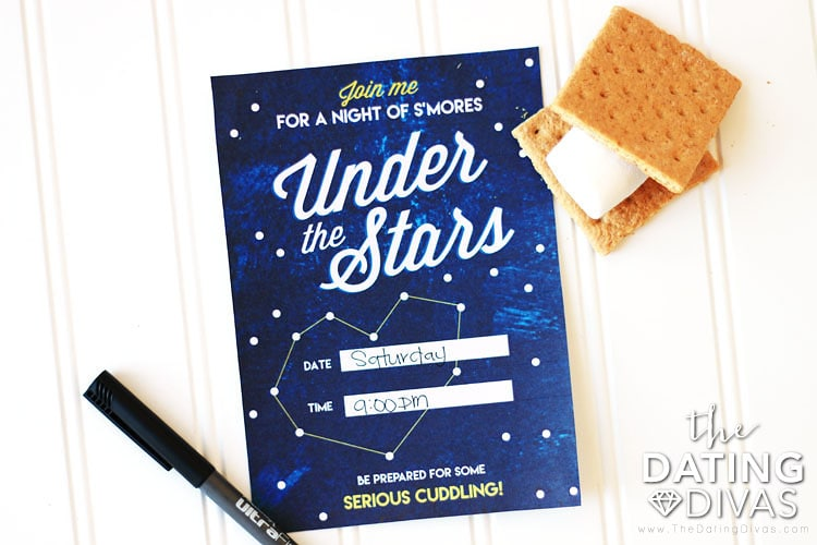 S'mores Under Stars Date Invitation