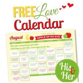 2015 August Love Calendar