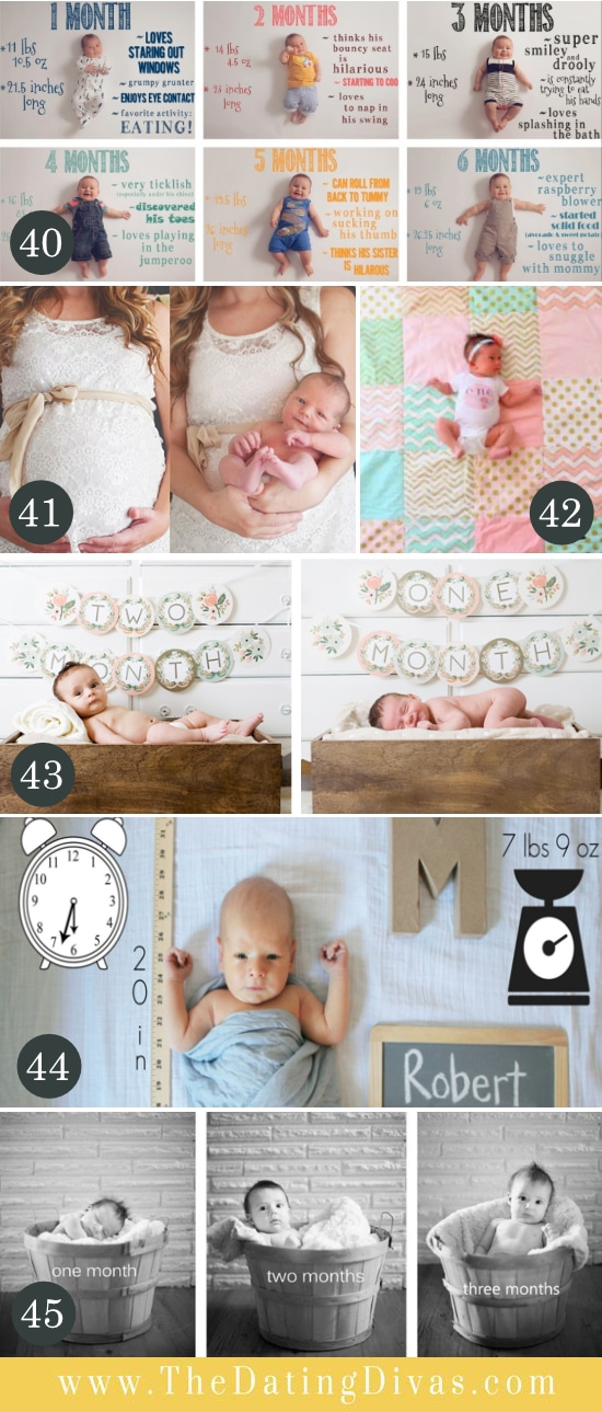 Monthly Baby Pose Ideas