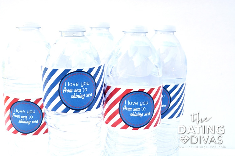 Adorable 4th of July water bottle labels!