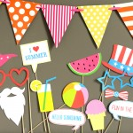 4th of July Summer Photo Booth Props Printable