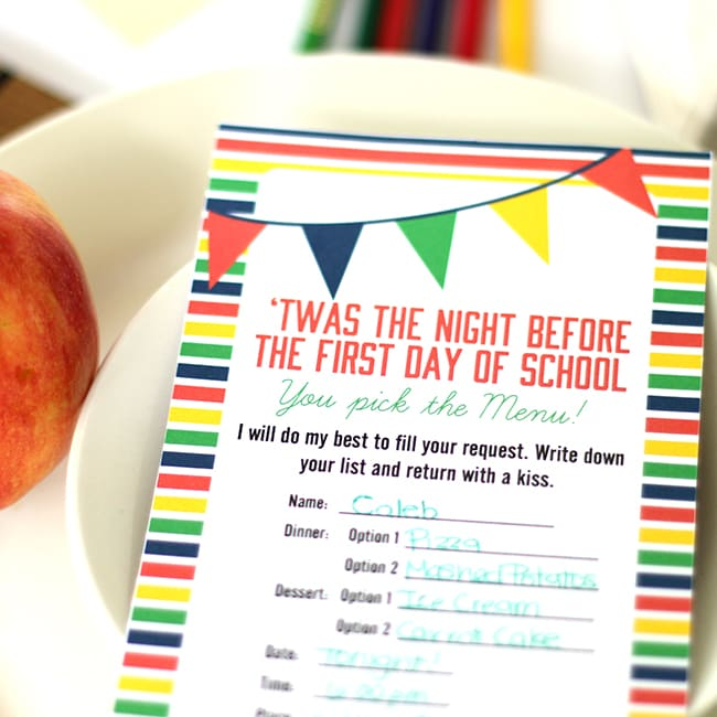 Twas the Night Before the First Day of School - From The