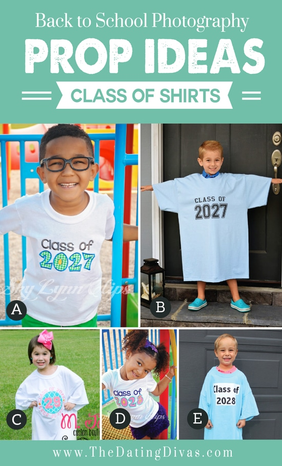 Class Shirts for Back to School Props