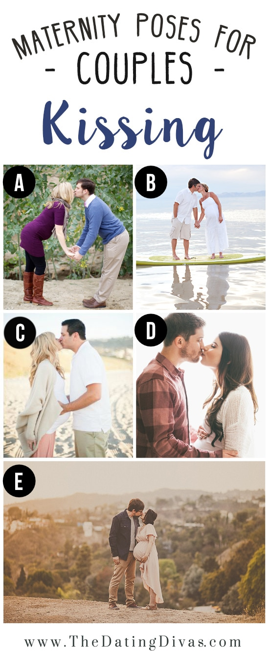 Couples Kissing Romantic Maternity Pose Ideas