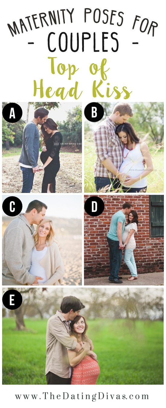 Husband Top of Head Kiss Wife Maternity Pose Ideas