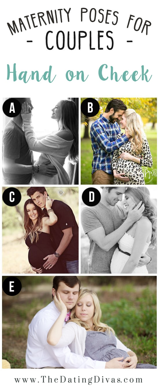 Hand on Cheek Pregnancy Photo Session