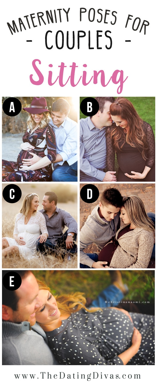 Pictures of Couples Sitting for Maternity Photo Shoot