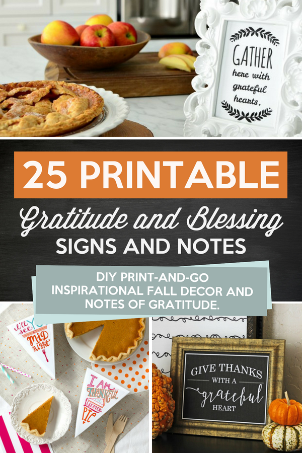 Fall Printable Gratitude and Blessing Notes and Signs