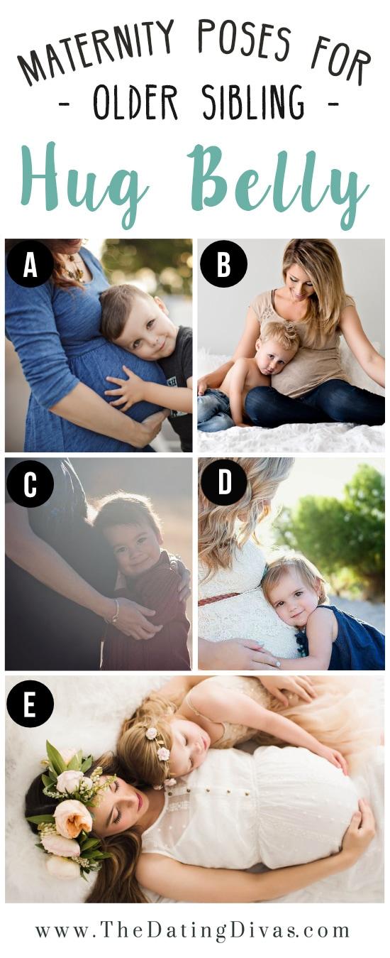 Darling Maternity Poses with Older Siblings