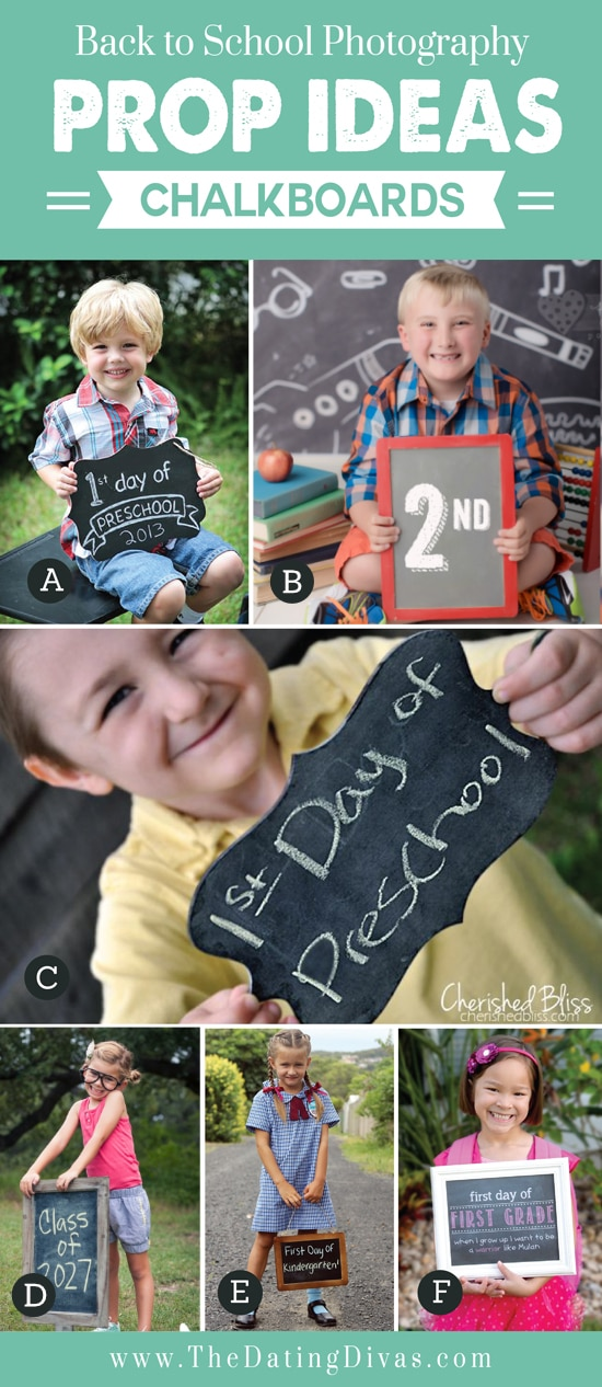 Chalkboard for Back to School Props
