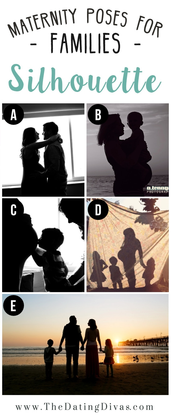 Family Silhouette Maternity Photo