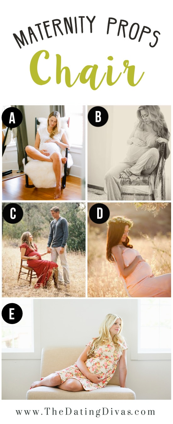 Maternity Photoshoot Pose ideas Using a Chair