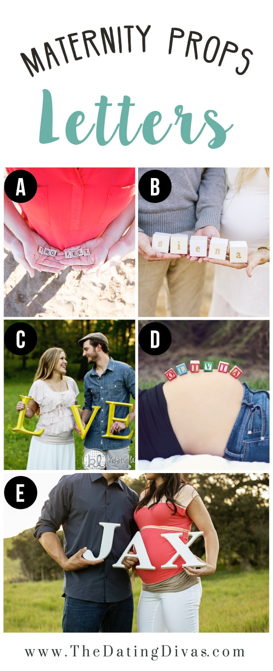 Maternity Photography Inspiration Including Letter Props