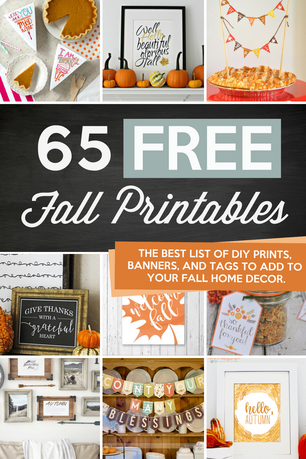 picture about Jar of Nothing Printable Label Free known as 65 Tumble Printables and Free of charge Slide Decorating Plans - The
