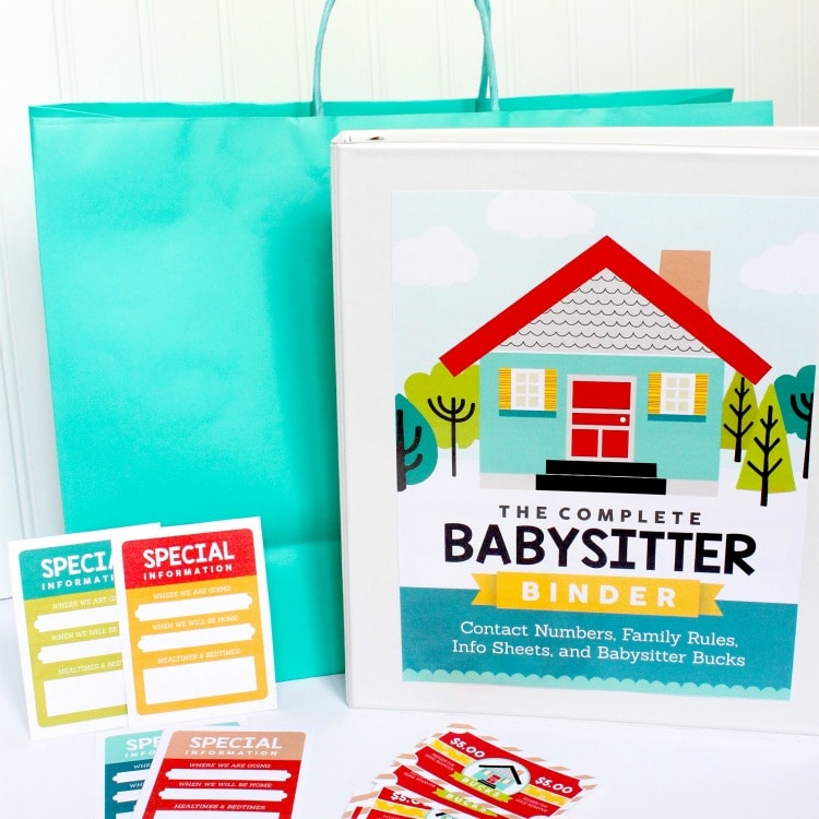 Babysitter Information Sheet And Activities Kit