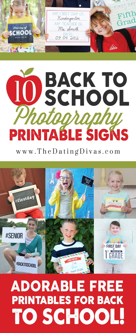 Back to School Photography Printables